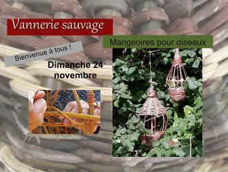 Prochain atelier: mangeoires et ruches en vannerie sauvage!