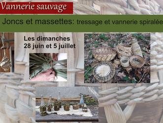 28 juin et 5 juillet: La douceur du jonc et de la massette, les ateliers de la douceur!