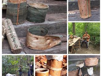 Dimanche 9 mai: Photophores et boites en écorces, selon la technique amérindienne.