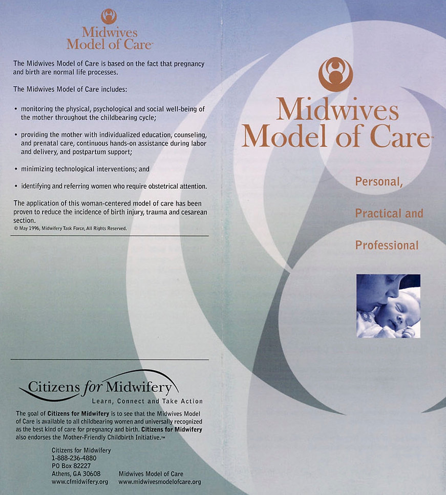Midwifery Model of Care Brochure 4