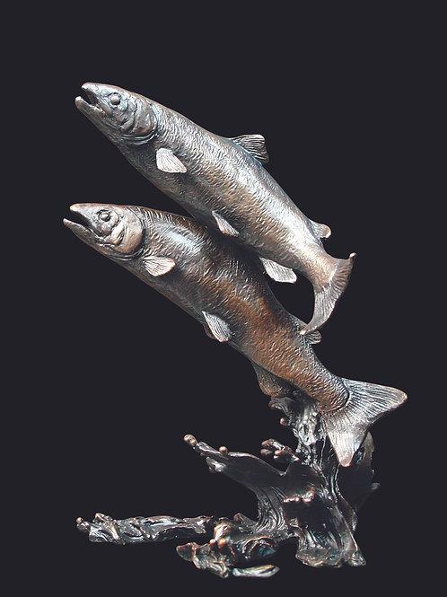 Salmon Pair by Keith Sherwin
