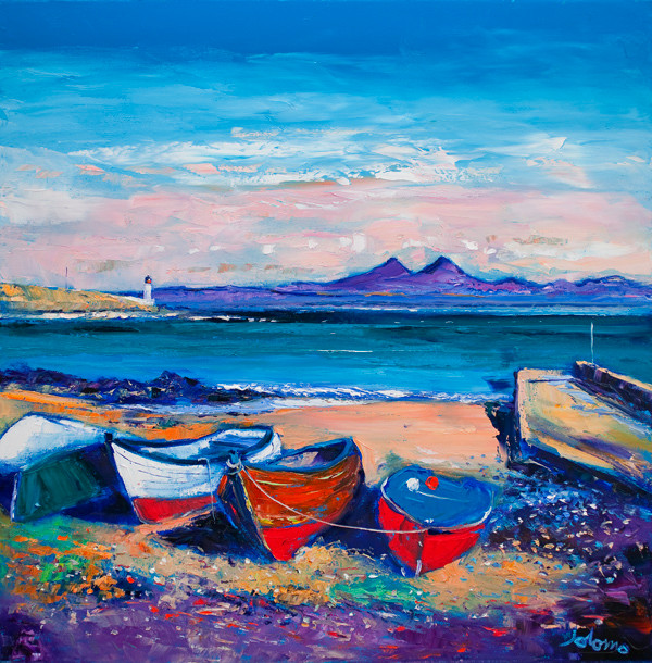 """""""Beached Boats, Loch Indaal, Islay"""" by John Lowrie Morrison"""