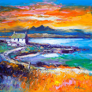 """A Jura Sunset from Port Nan Gallan, Keills"" by John Lowrie Morrison"