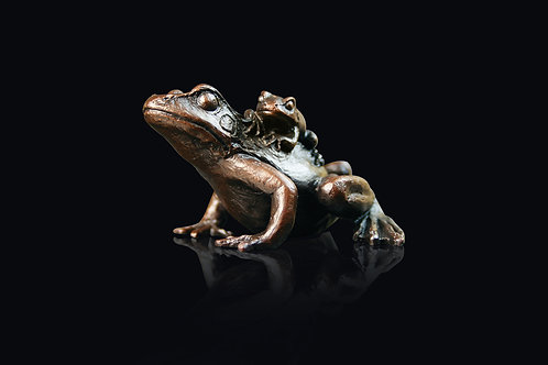 Small Frog with Baby by Keith Sherwin
