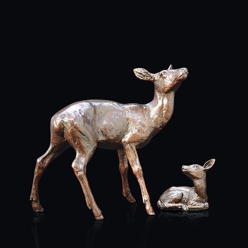 Hind and Fawn by Michael Simpson