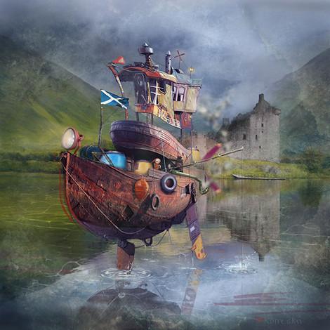 """Fishing Boat"" by Matylda Konecka"