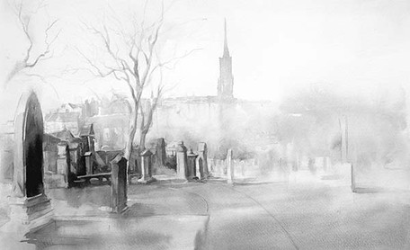 """Greyfriars Kirkyard"" by Ismael Pinteño"