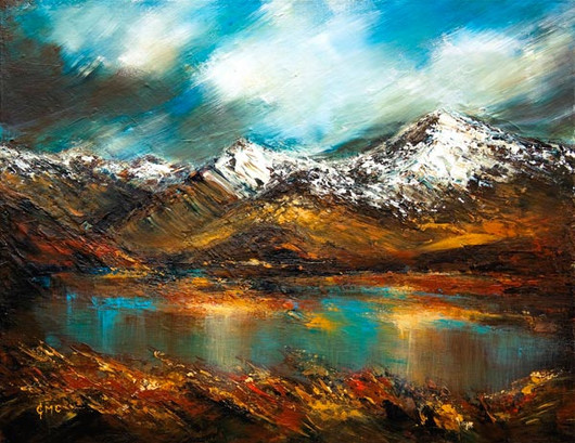 """Storm Approaches Rannoch"" by Grace Cameron"