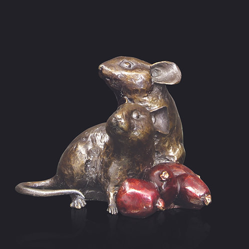 Mice with Rosehips by Michael Simpson