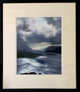 Storm over the Kyle of Bute