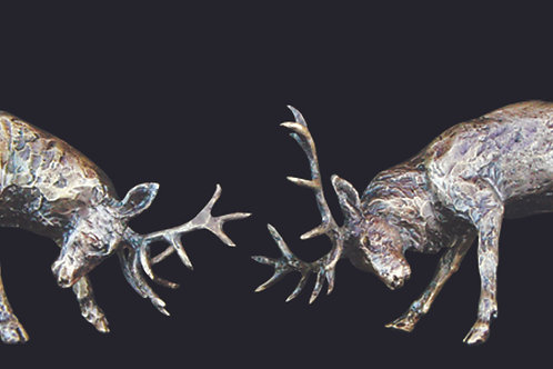 Rutting Stags by Butler and Peach