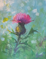 Green and Purple Thistle