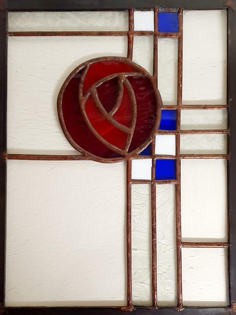 Antique Glass Panel