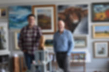 Iain Loudon and David Wallace - Owners of The Gallery Melrose