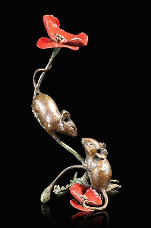 Two Mice with Poppy by Michael Simpson