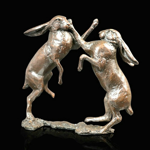 Small Hares Boxing by Michael Simpson