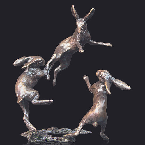 Hares Dancing by Butler and Peach