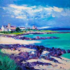"""""""Summer Light at St Ronan's Bay, Iona"""" by John Lowrie Morrison"""