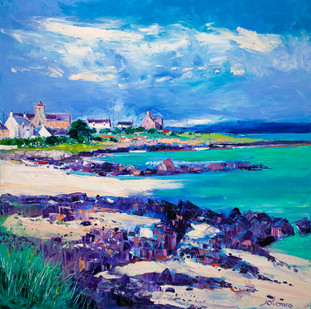 """Summer Light at St Ronan's Bay, Iona"" by John Lowrie Morrison"