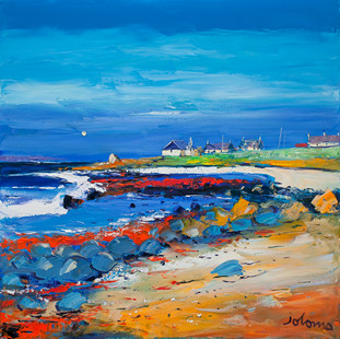 """""""The Red Rocks at Chleit Kirk, Kintyre"""" by John Lowrie Morrison"""