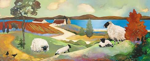 """""""Blackies in Spring"""" by Lesley McLaren"""