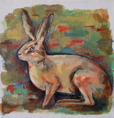 Hare Among the Poppies