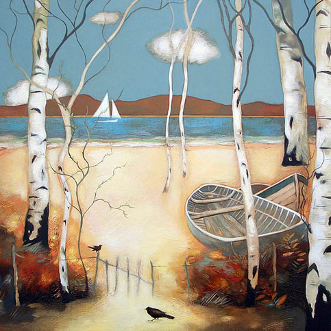 """""""Birds and Boats"""" by Lesley McLaren"""