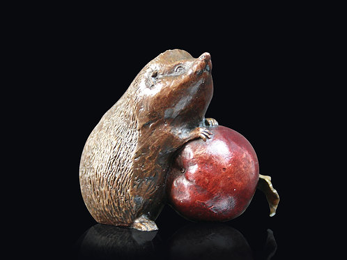 Hedgehog with Apple by Michael Simpson