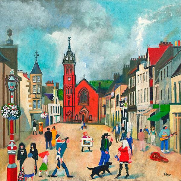 """High Street, Peebles"" by Rob Hain"