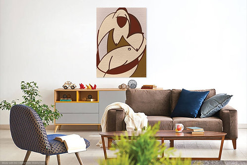Brown Beige Abstract