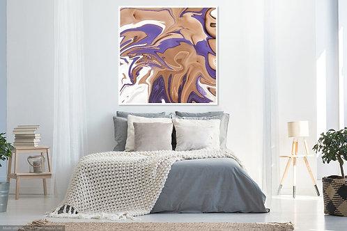Purple Beige Abstract