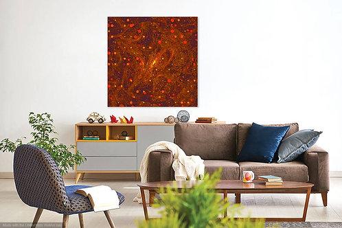 Orange Dot Abstract