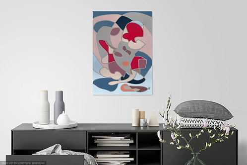 Abstract Pica Pink