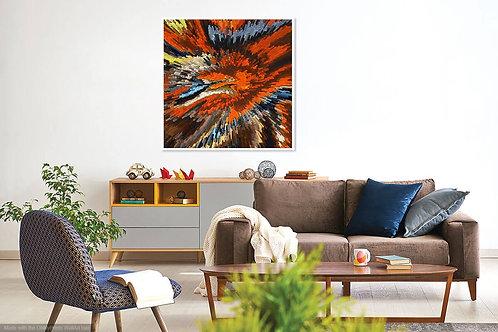 Orange Blue Abstract