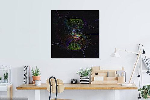 Black Neon Swirl