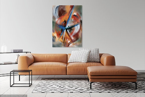 Blue Orange Brown Abstract