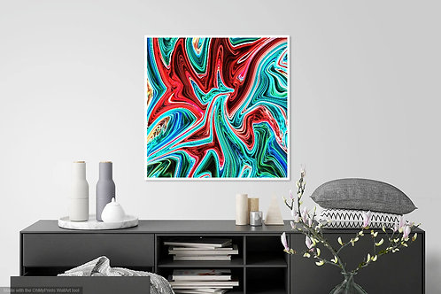 Red Green Abstract