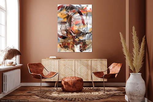 Abstract Brown Beige
