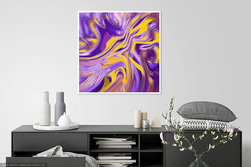 Purple Gold Abstract