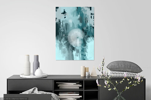 Abstract Teal