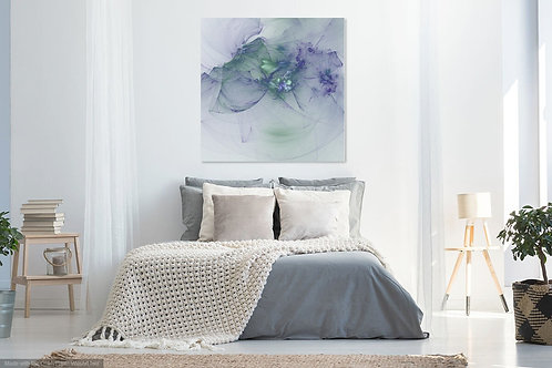 White Green Purple Abstract