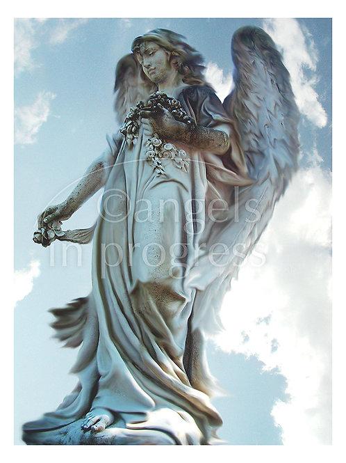 """Engel Nr. 6 """"Mit andern teilen, von Herzen geben""""_Himmel"""