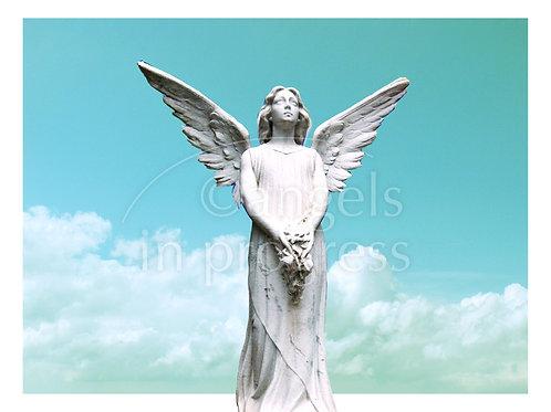 "Engel Nr. 43 ""Engel der Hoffnung"" (breite Version)_Himmel"