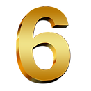gold-number-6-transparent-png-stickpng-f