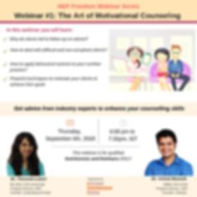 NEP Webinar - Art of motivational counse