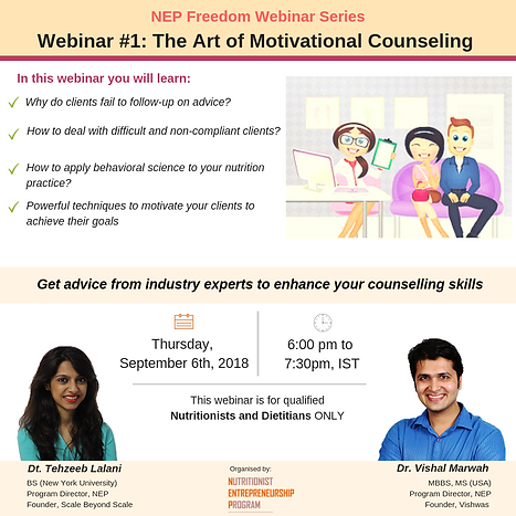 NEP Webinar - Art of motivational counse