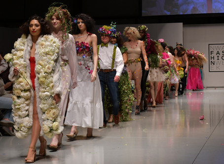 Check out all the floral creations from Samantha's Garden at NWA Fashion Week Fall Show.