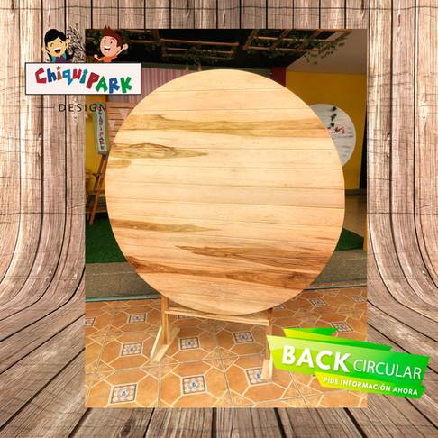 Backing circular rustico