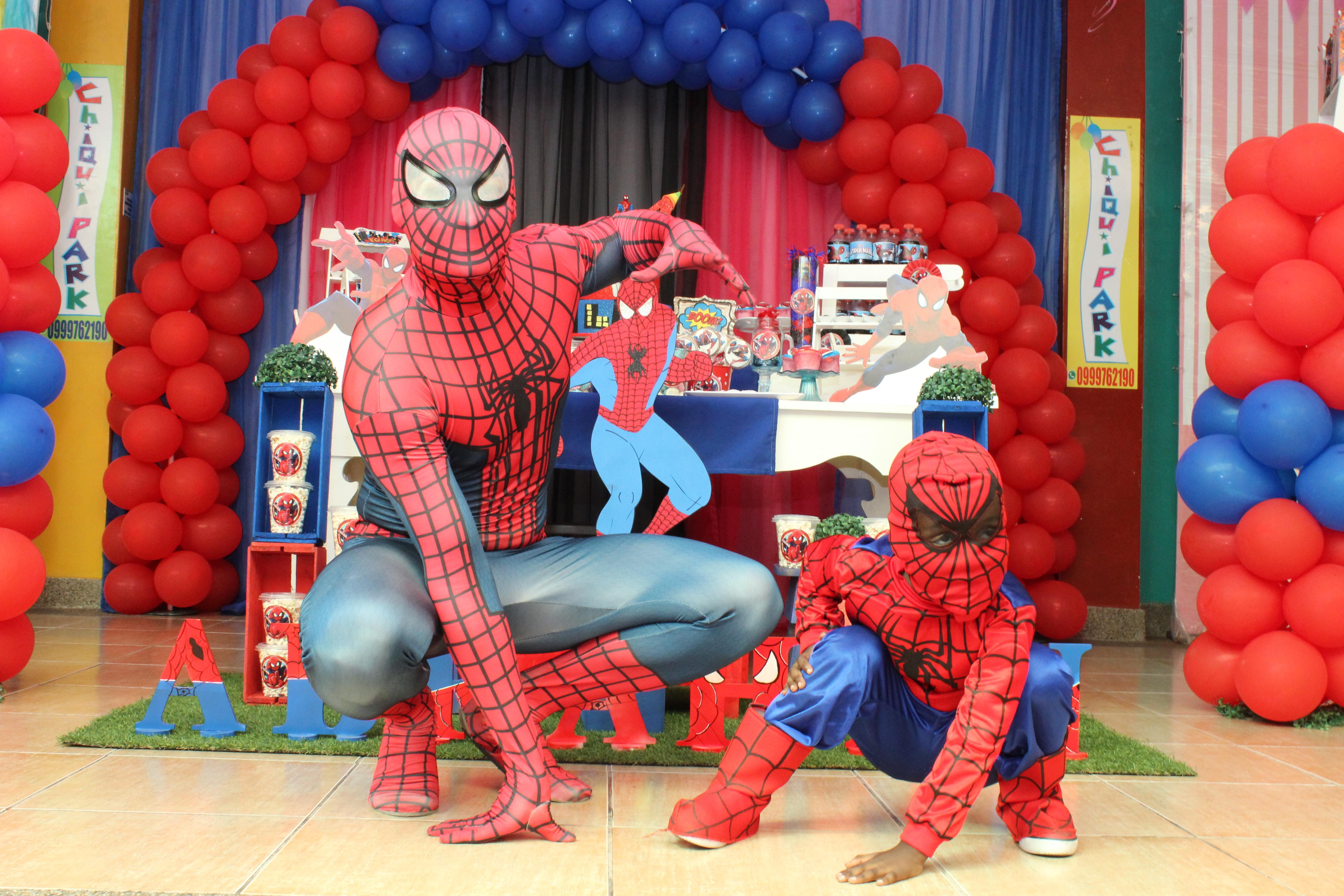 Personajes para fiesta - Spider Man