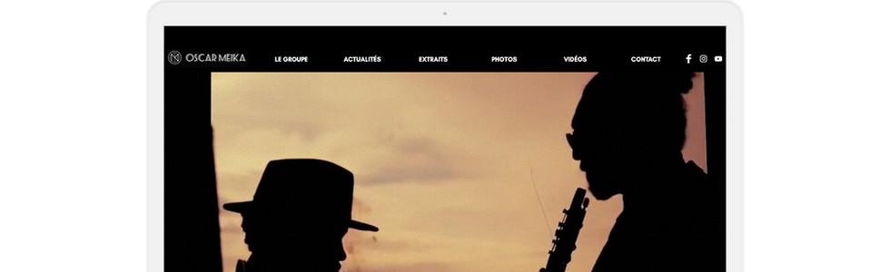 Création du site internet http://www.oscarmeika.com